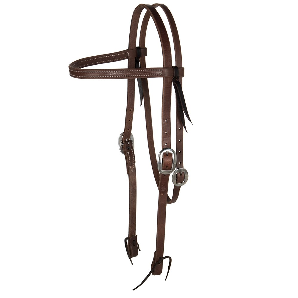 NRS Tack Draft Size Oiled Browband Headstall
