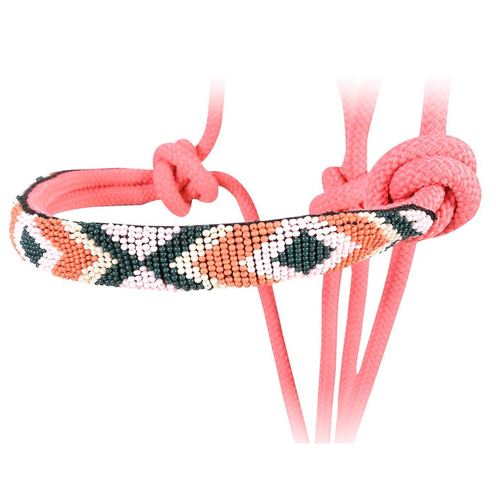 Cashel Pink Beaded Rope Halter w/ 9ft Lead