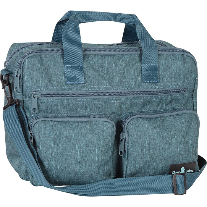 Classic Equine Teal Laptop Bag
