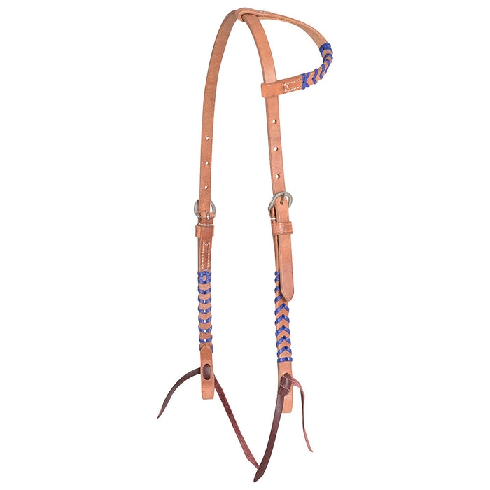 Martin Saddlery 5/8in Laced Harness Leather Single Ear Headstall