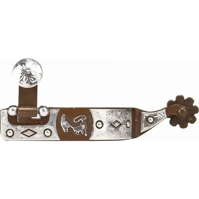 NRS Antique Offset Team Roping Spurs
