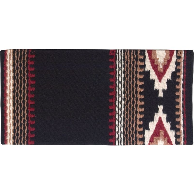 New Zealand Cowtown Wool Saddle Blanket Black/Red/White
