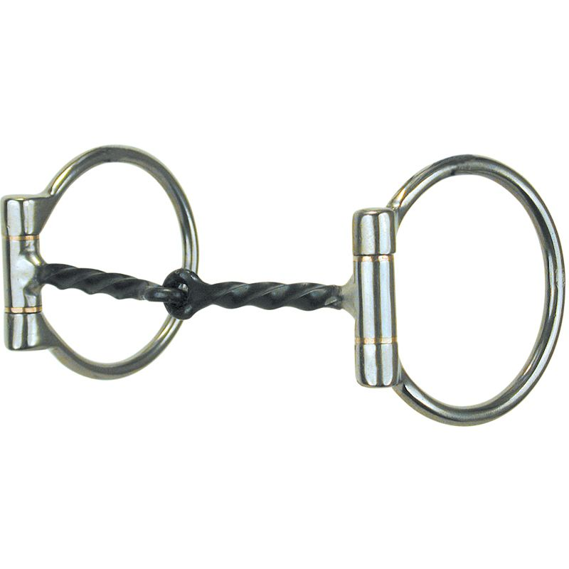 D Twisted Wire Snaffle Horse Bit