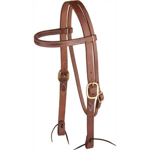NRS Tack Ranch Hand Knotted Oiled Browband Headstall