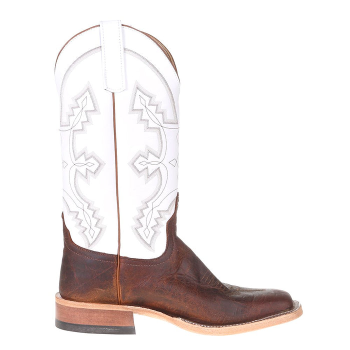 Men's Anderson Bean Saddle Elk Butt 13in. White Glove Top Square Toe Cowboy Boot