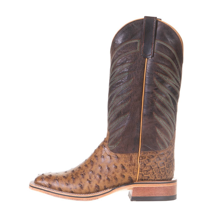 Men's Anderson Bean Ride Ready Terra Vintage Full Quill Ostrich 13in.Chocolate Top