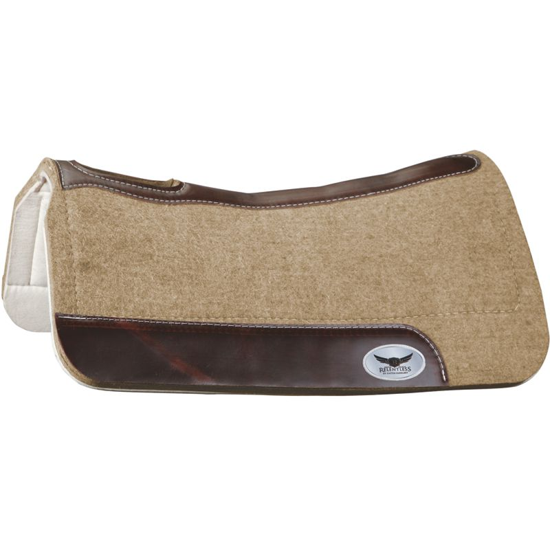 "1"" Trevor Brazile Relentless Tan Orthopedic Gel Saddle Pad"