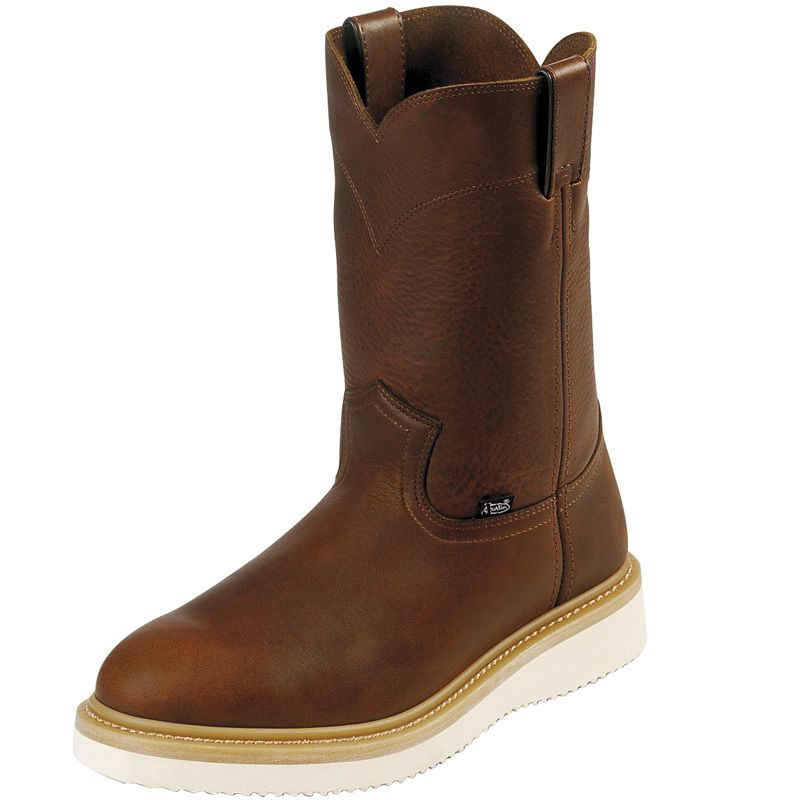 Men's Justin Tan Premium Pull On Work Boots