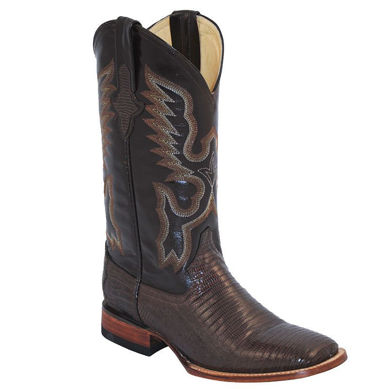 Men's Ferrini Chocolate Teju Lizard Cowboy Boots