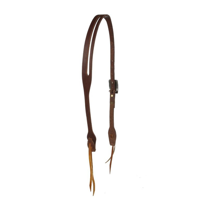 Cowperson Tack 5/8inch Slot Ear Headstall w/ a Copper Flower Belt Buckle