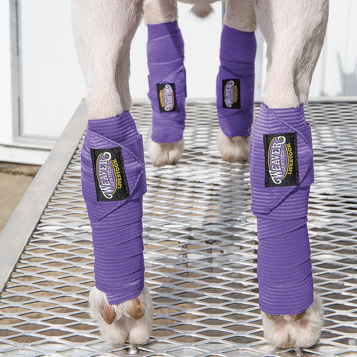 Weaver Leather Purple Sheep and Goat Leg Wraps 4 Pack