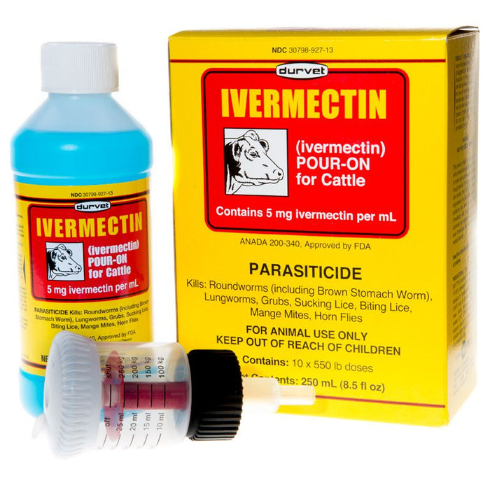 Durvet Ivermectin Pour On Dewormer 250mL