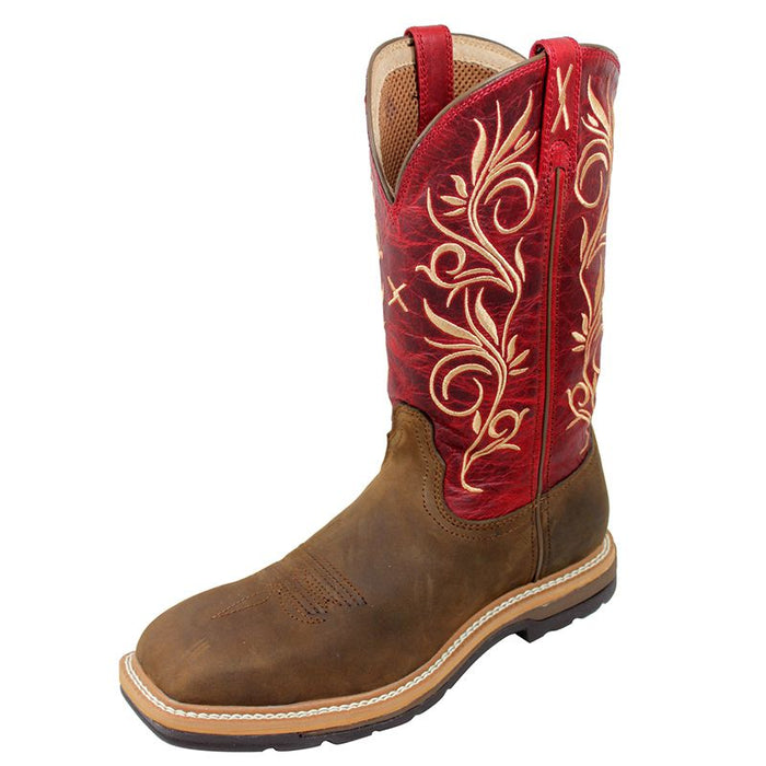 Women's Twisted X Distressed Latigo Steel Toe Lite Weight Cowgirl Work Boots