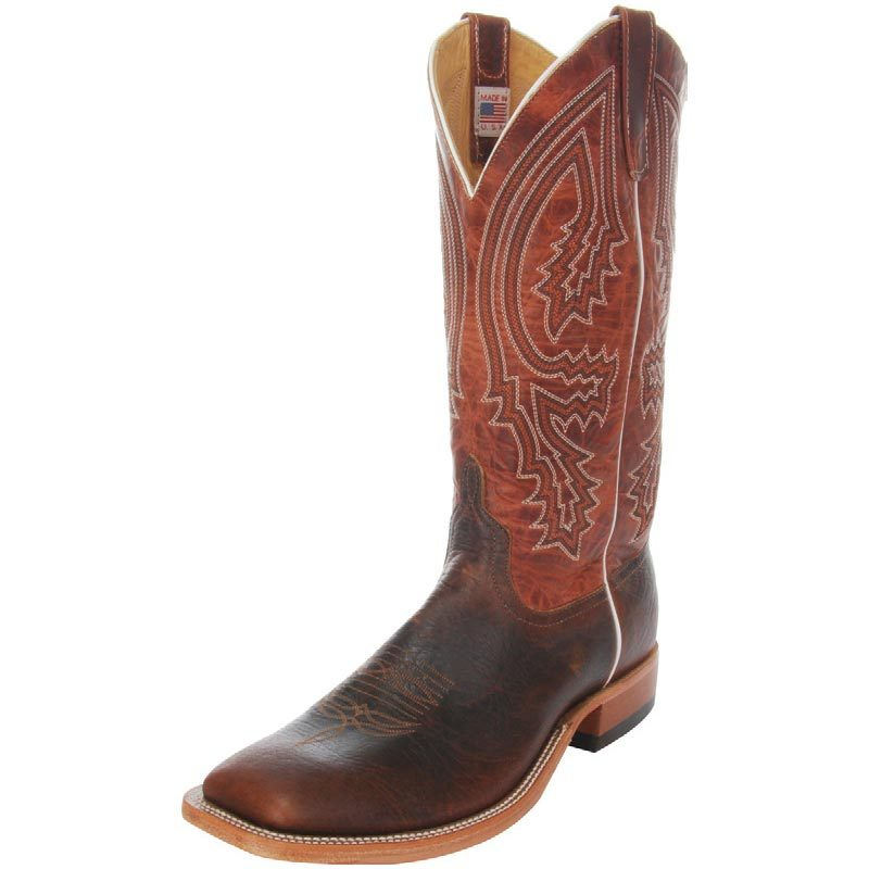 Men's Anderson Bean Mike Tyson Bison Rust Lava Cowboy Boots