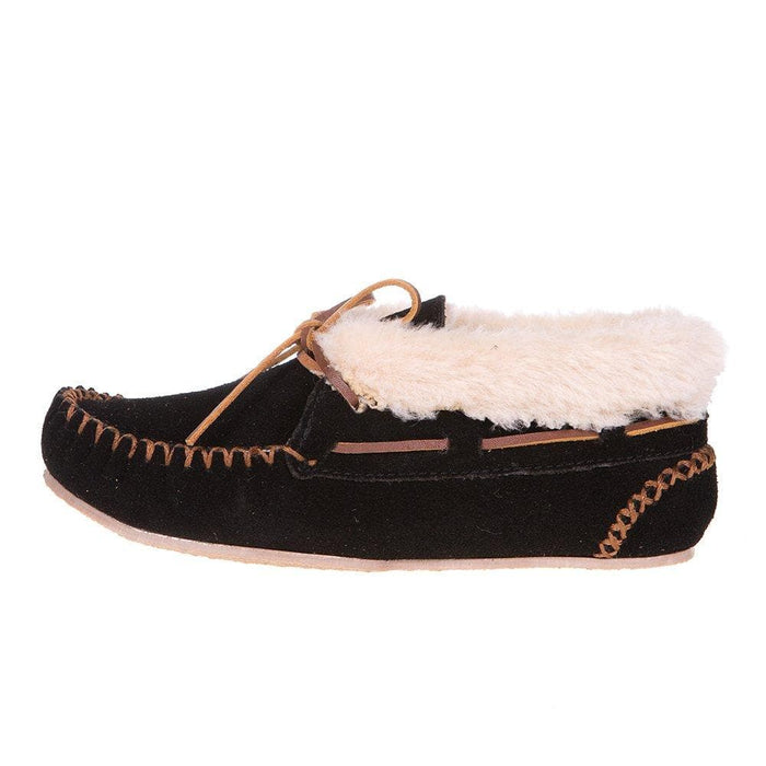 Women's Chrissy Black Suede Slipper