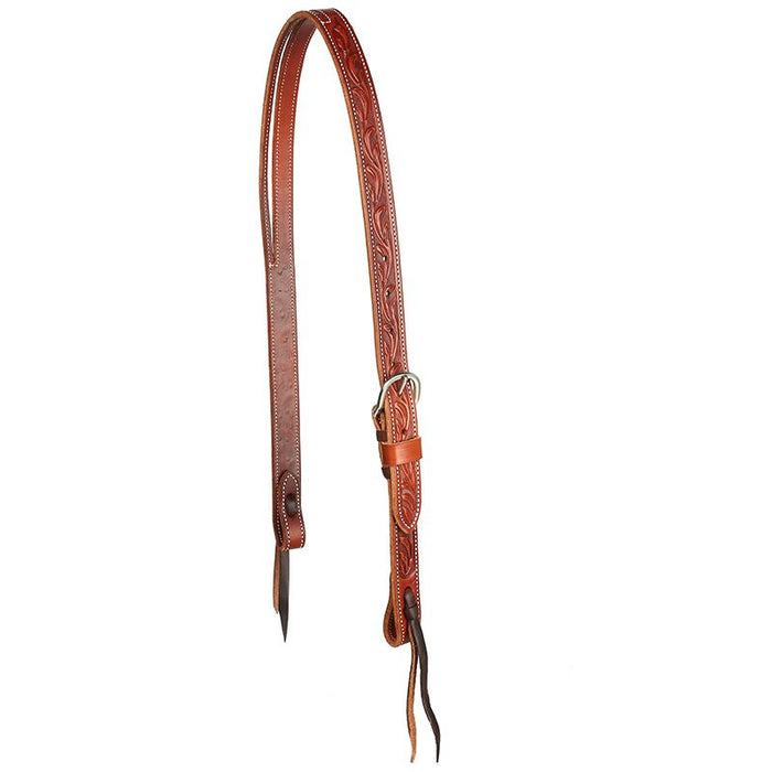 Martin Saddlery Ranahan Split Ear Chestnut Floral Headstall