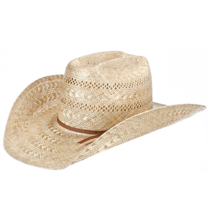 "American Sisal Vented Open Crown 4-1/4"" Brim Straw Cowboy Hat"