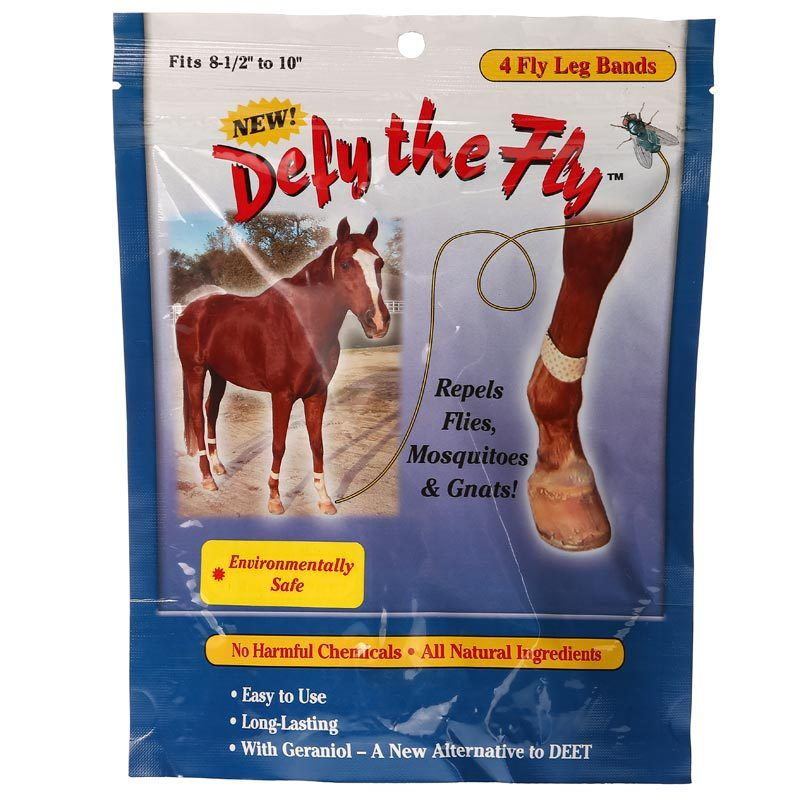 R&R Group Defy the Fly Horse Fly Leg Bands (Set of 4)