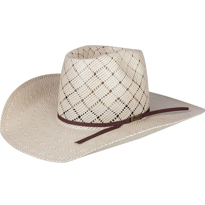 American 20 Star Sand Patchwork Crossbred 4-1/4in. Brim Open Crown Straw Cowboy Hat