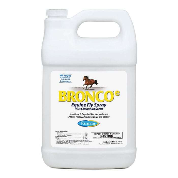 Farnam Bronco-e Equine Fly Spray Plus Citronella Scent Gallon Refill