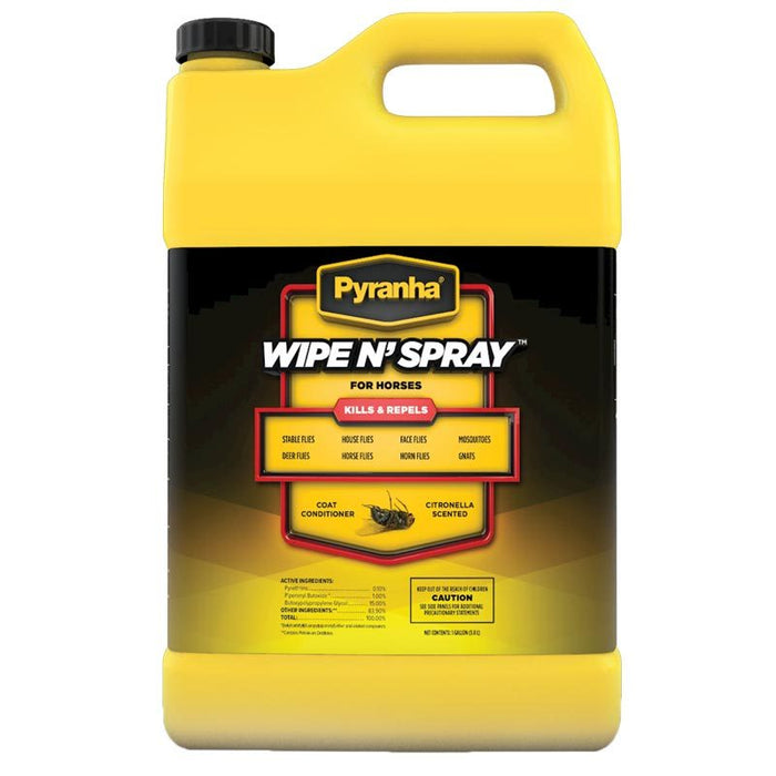 Pyranha Wipe N' Spray Fly Spray Gallon