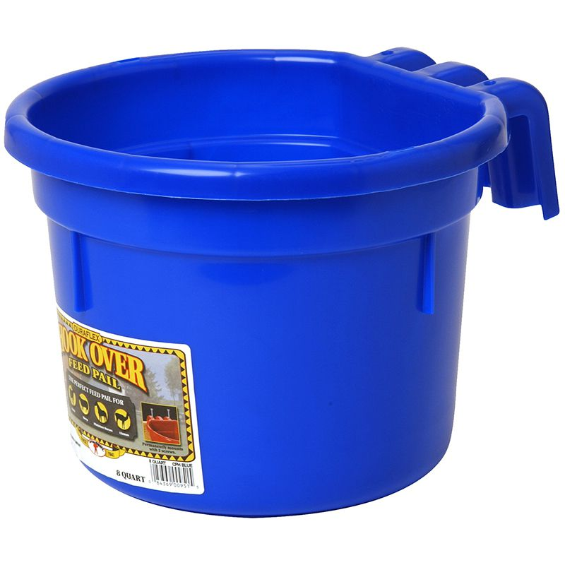 Little Giant Blue 8 Quart Hook Over Feed Pail
