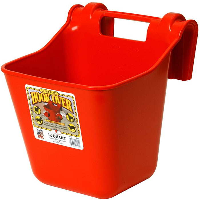 Little Giant Red 12 Quart Plastic Hook Over Feeder