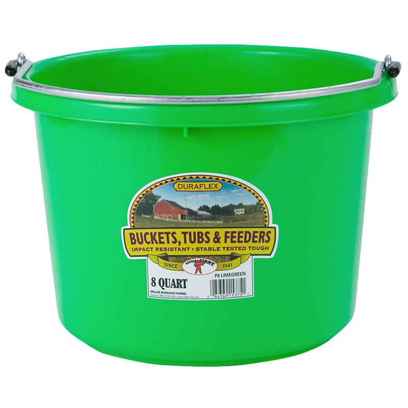 Little Giant 8 Quart Lime Green Plastic Bucket