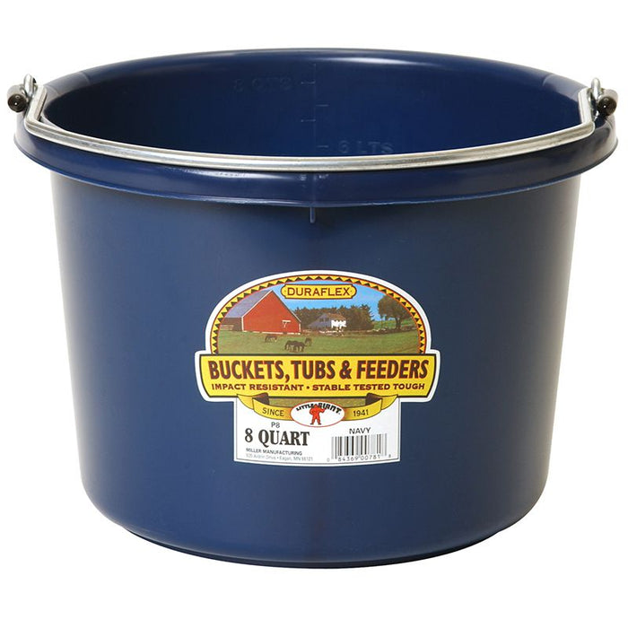 Little Giant 8 Quart Navy Plastic Bucket