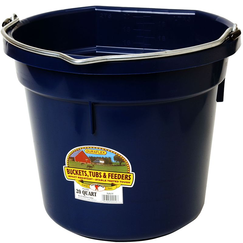Little Giant 20 Quart Navy Flat Back Plastic Bucket