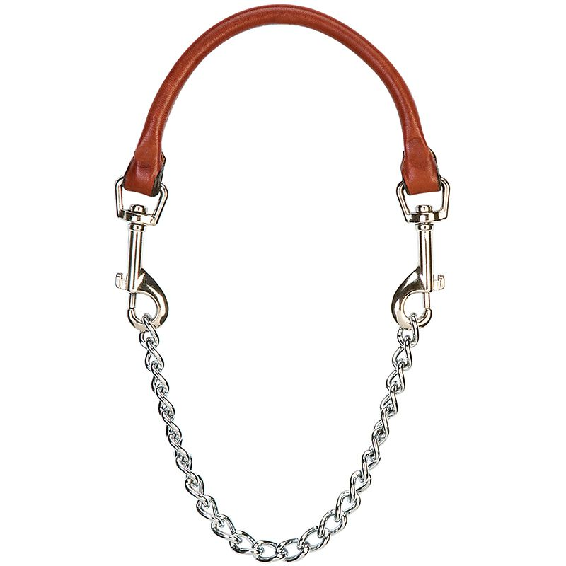 "Weaver Leather Goat 24"" Leather and Chain Collar"