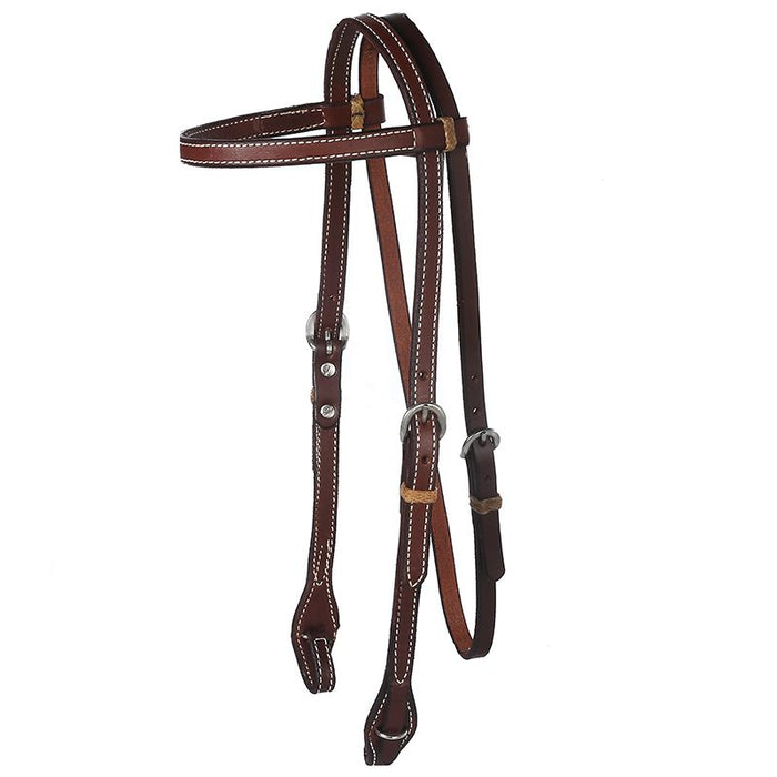 Oiled Browband Headstall with Quick Change Ends