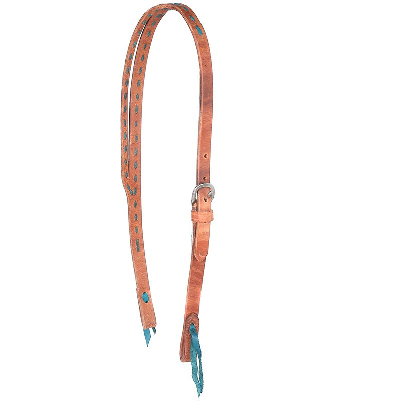 Split Ear Turquoise Buckstitch Headstall