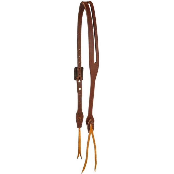 Cowperson Tack 5/8inch Slot Ear Headstall w/ Card Suit & Pistols Hardware