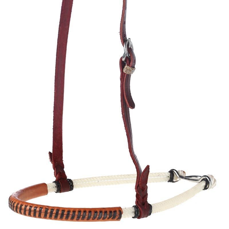 Double Rope Leather Covered Noseband