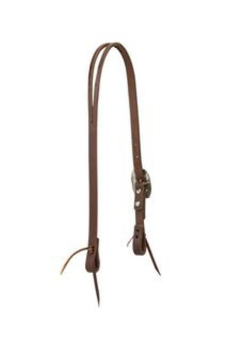 Weaver Slit Ear Headstall w/Southwest Rope Edge Buckle