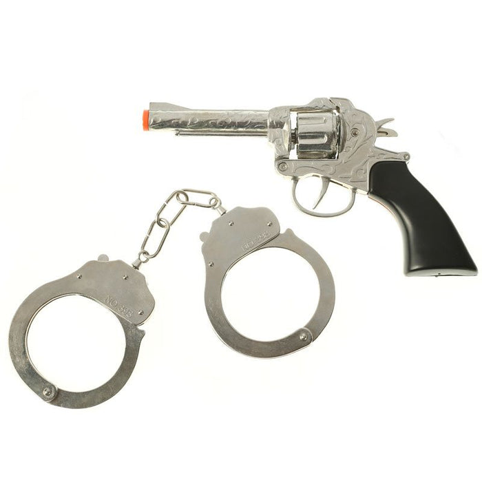 Toy Pistol and Handcuff Set