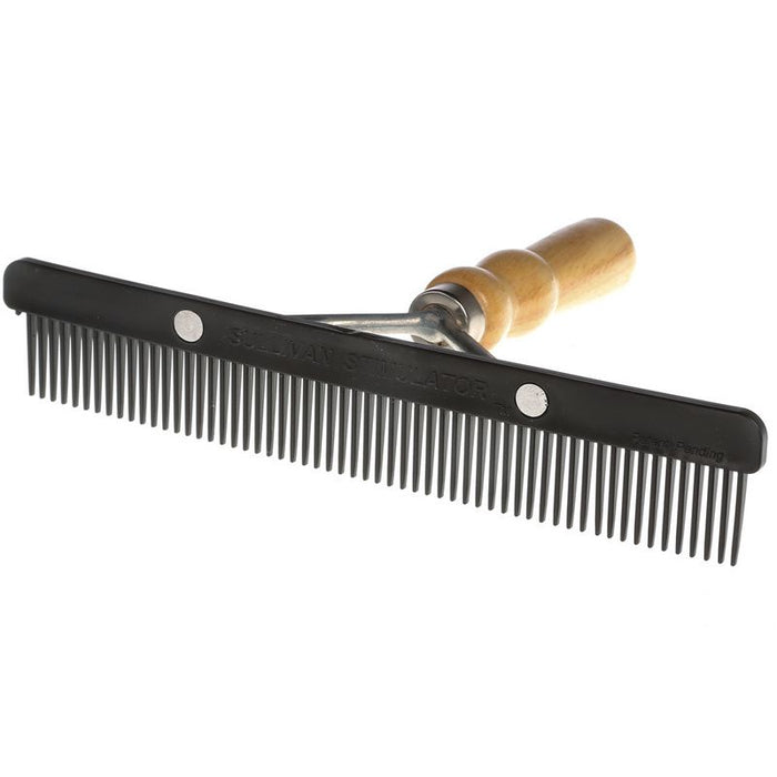 Sullivan Supply Stimulator Comb with Wood Handle