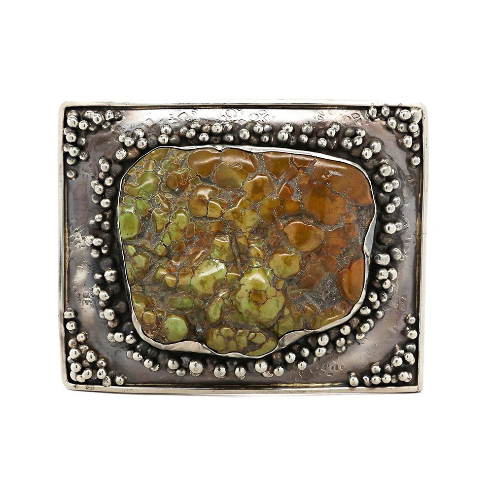 Women's Paige Wallace Turquoise XL Green Freeform Stone Buckle