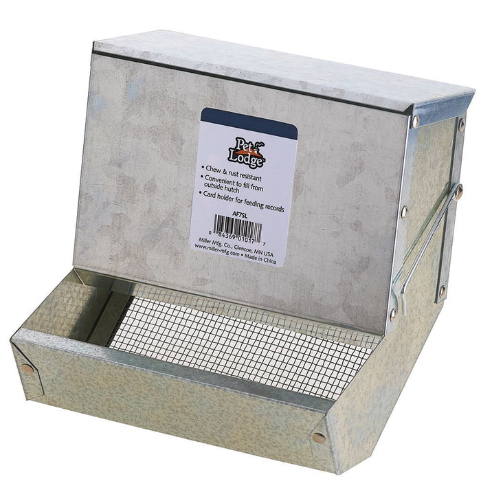 Pet Lodge 7 inch Galvanized Feeder Sifter Bottom with Lid