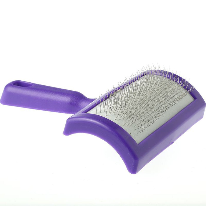 Weaver Leather Plastic Lamb Slicker Brush Purple