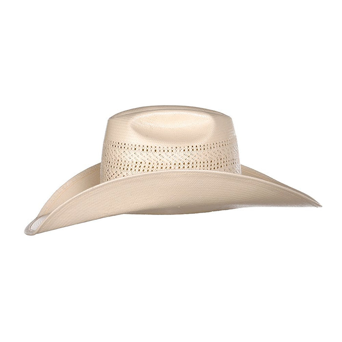 American Hat co. Ivory Triple Vent 4 1/4in. Brim Straw Cowboy Hat