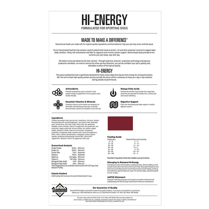 Diamond Hi Energy Sport 50lb