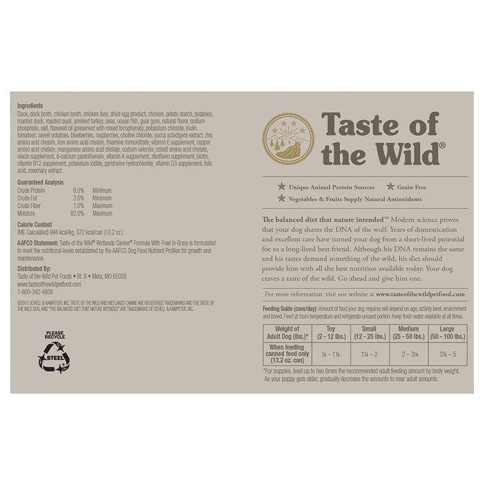Taste of the Wild Wetland Fowl 13oz