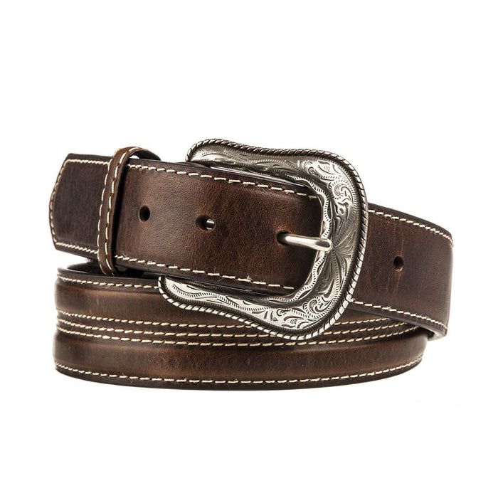 Men's Gem Dandy Leather Belt with Silver Concho
