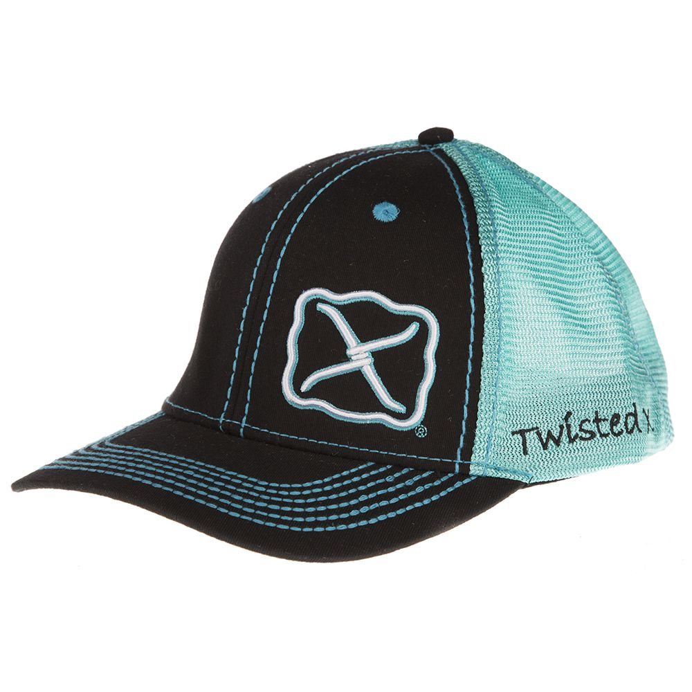 Men's Twisted X Black/Turquoise Cap