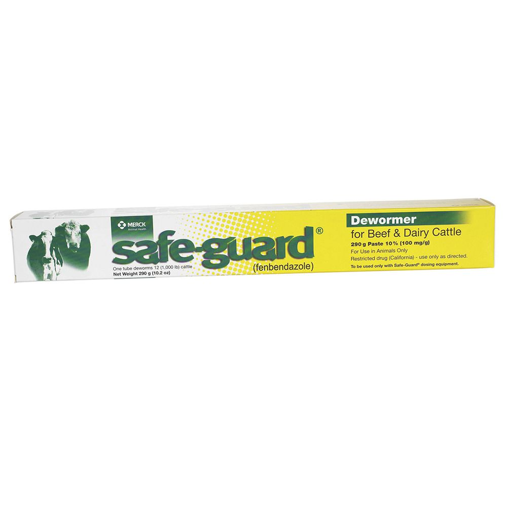 Merck Safe-Guard Beef & Dairy Cattle Dewormer Paste 290gm