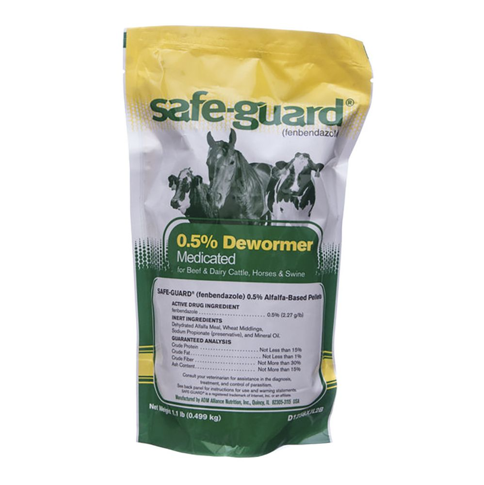 Merck Safe-Guard Dewormer 0.5% Alfalfa-Based Pellets 1lb