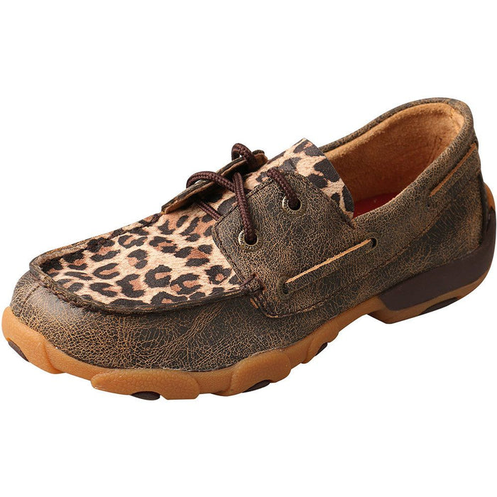 Kid's Twisted X Leopard Driving Mocs