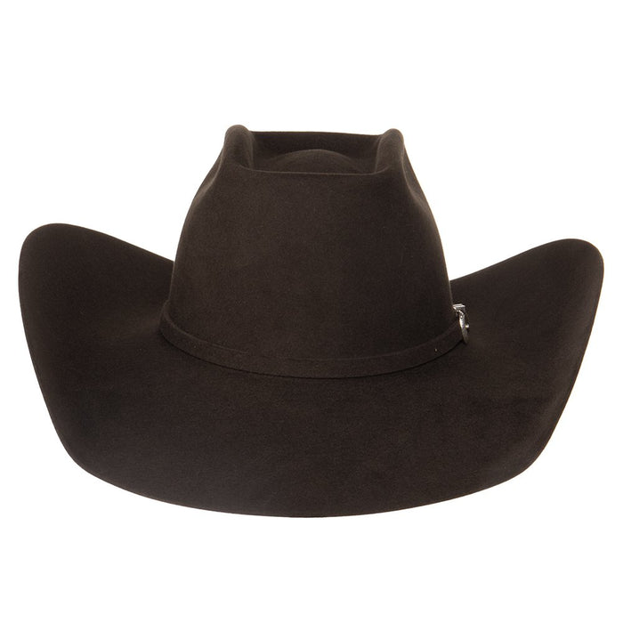 American 7X Chocolate Open Crown 4-1/4 Brim Felt Cowboy Hat